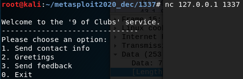 Metasploit Community CTF 2020 (Dec) Write-up: 9-of-clubs (port 1337)